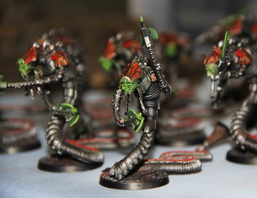 Table Calendar 2018 : Necron army painted for client frontline gaming