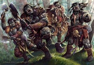 A group of 10 Orcs attack!
