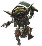 Biter, the Goblin the party rescued from the Giant Black Widows!