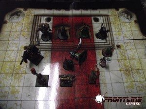 At the temple of Imodedae, the party beseeches the Cleric Shayleesta to heal Janson's brother, Bill.