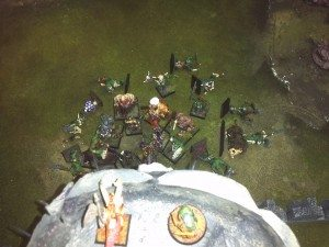 Craxis and Frugeon rain death down on the enemy from the relative safety of the wall!