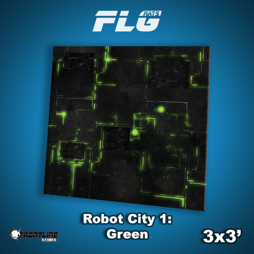 3x3 Robot City 1- Green WC
