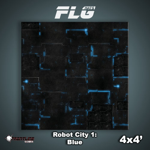 4x4 Robot City 1- Blue