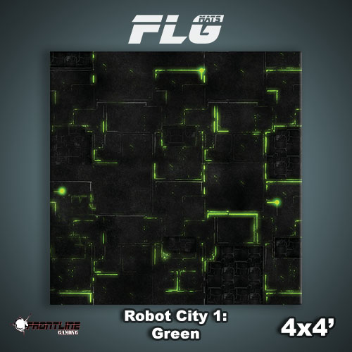 4x4 Robot City 1- Green