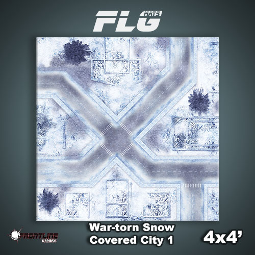 4x4 War-torn Snow Covered City 1WC