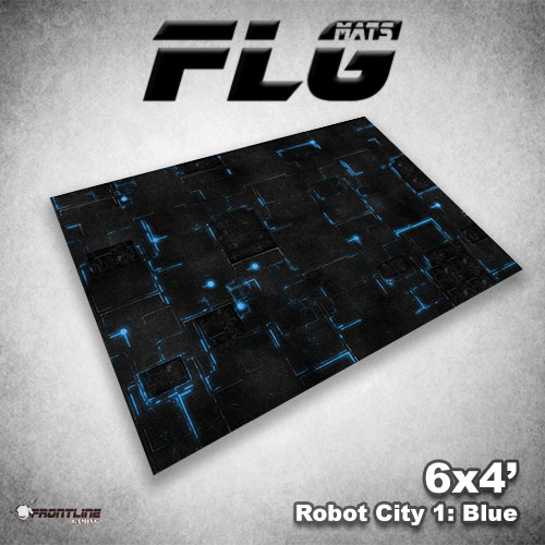 500x500 Robot City 1- Blue