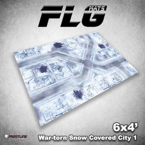 500x500 War-torn Snow Covered City 1