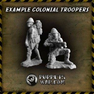 colonial troopers
