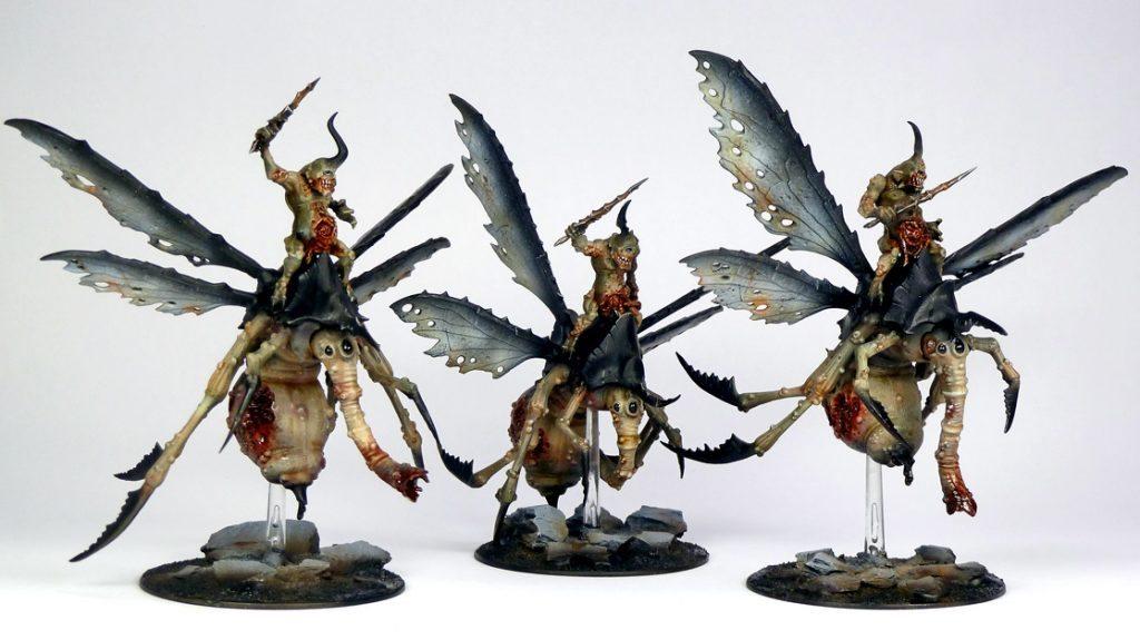 3 Plague Drones Nurgle Kill Team Army Warhammer 40K Chaos Daemons Aos Sigmar Of