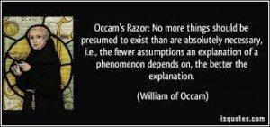 occams razoer