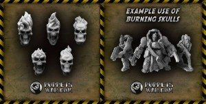 puppetswar flaming skulls