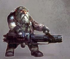 dwarf with gun