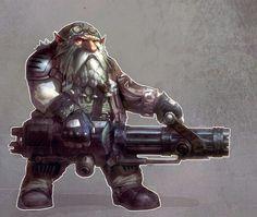 dwarf with gun