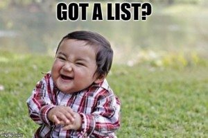 got a list