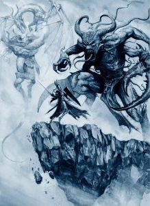 Aenarion_última_batalla_Demonios_del_Caos_Karl_Kopinski