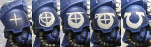 Ultramarine terminator chapter symbol step by step