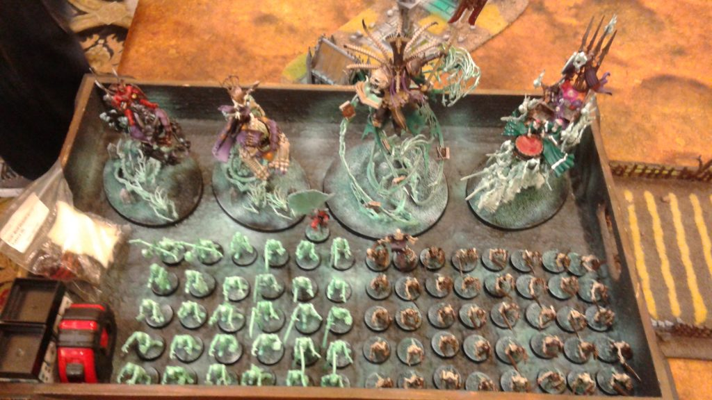 The death army on track to win until James' Tzeentch army stopped him in the finals.