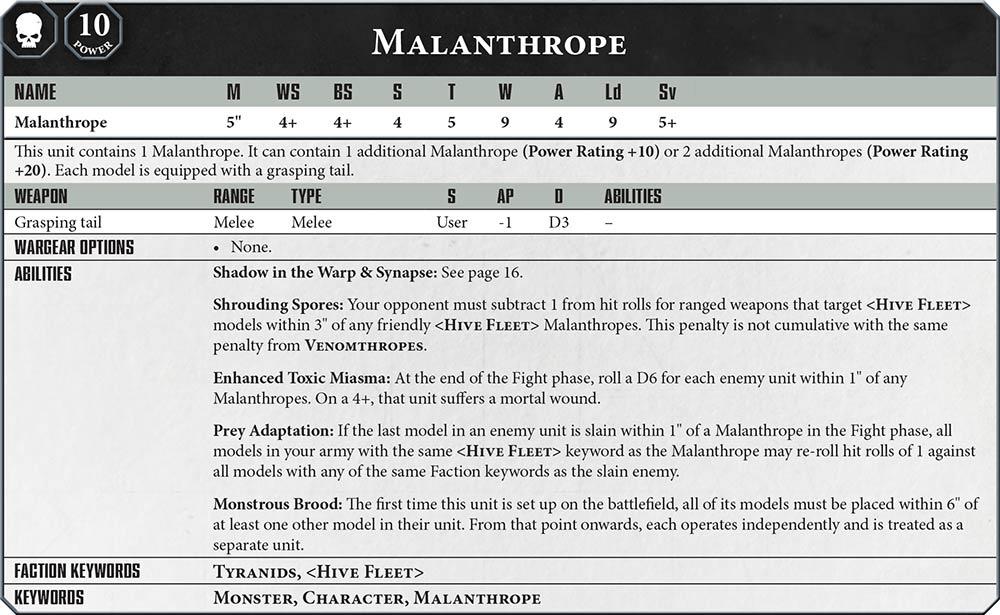 Tyranid Malanthrope