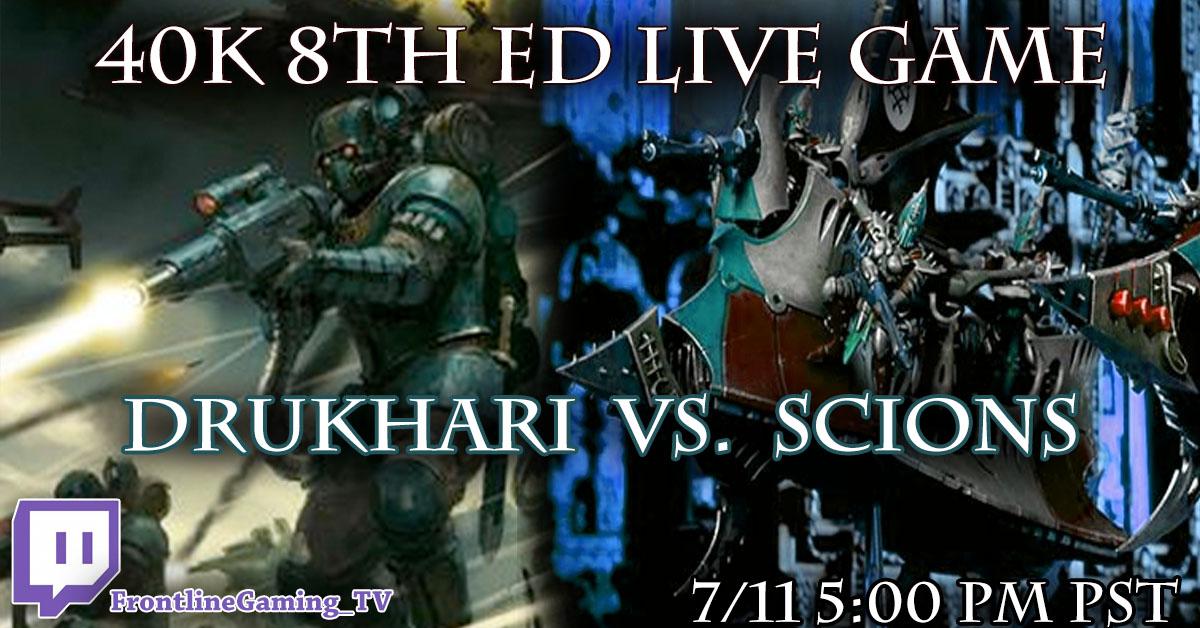 Drukhari 8th edition battle report   FREE: Drukhari vs Chaos