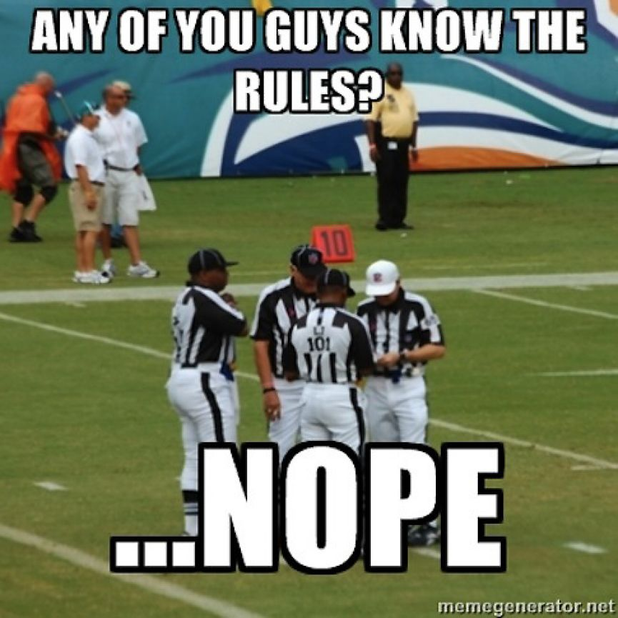 memes football sports nfl referee funny rules meme college jokes humor soccer sport nope american refs any know pro ref