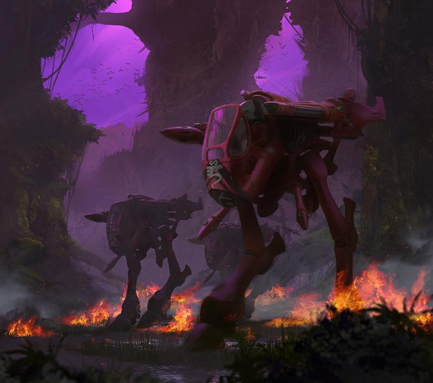 Craftworlds War Walker Warhammer 40k Aeldari Craftworld Eldar