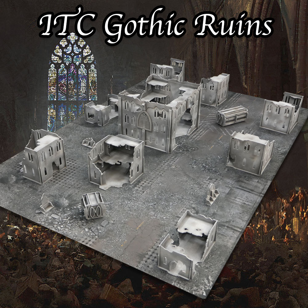 hobby tutorial: quick and easy painting of the gothic ruins itc