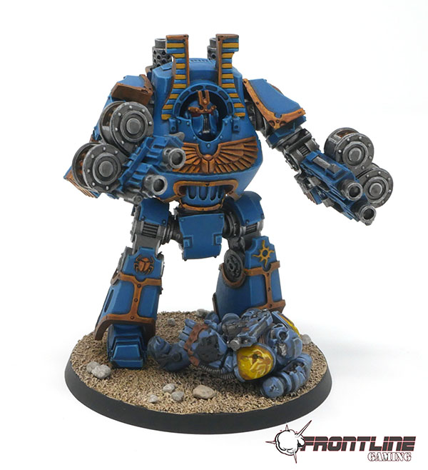 Completed Commission Thousand Sons Contemptor Dreadnought Frontline Gaming