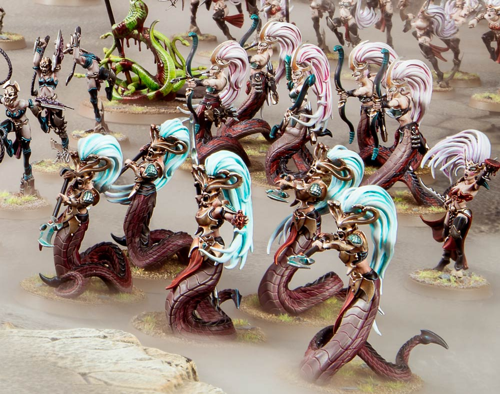 Age Of Sigmar AOS No Box 5 Witch Aelves // Sisters Of Slaughter No Bases.